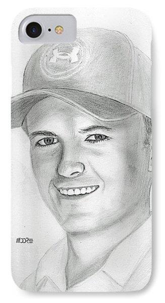 Jordan Spieth IPhone Case by Pat Moore