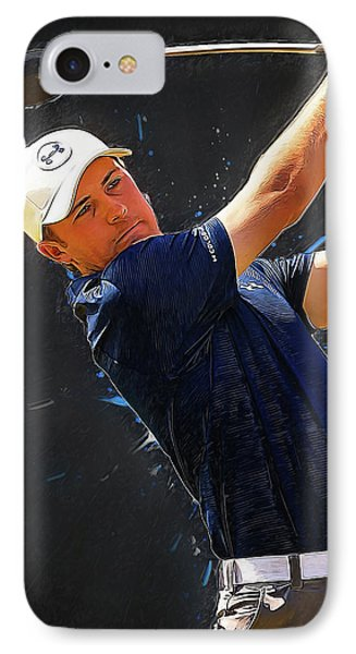 Jordan Spieth IPhone Case by Semih Yurdabak