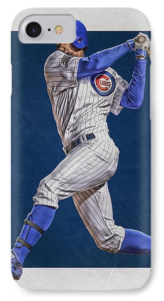 Jorge Soler Chicago Cubs Art IPhone Case by Joe Hamilton