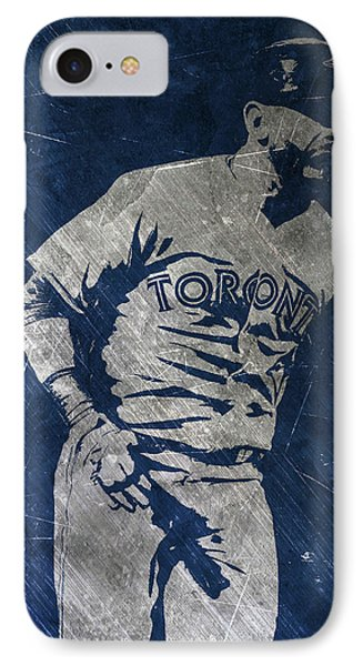 Jose Bautista Toronto Blue Jays Art IPhone Case by Joe Hamilton