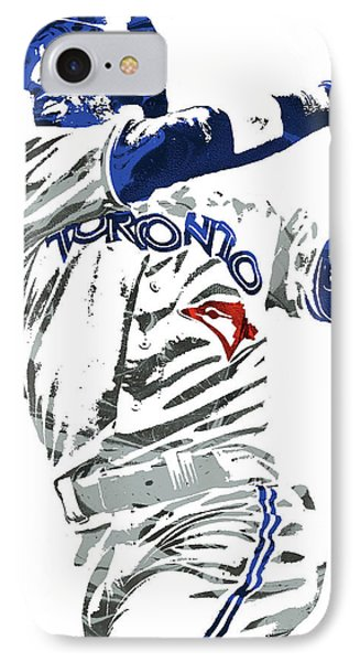Jose Bautista Toronto Blue Jays Pixel Art 2 IPhone Case by Joe Hamilton