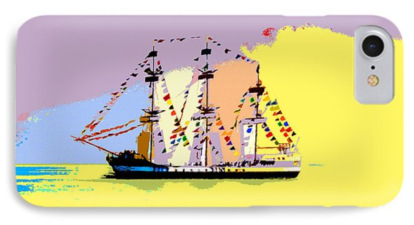Jose Gasparilla Sailing Colorful Tampa Bay IPhone Case