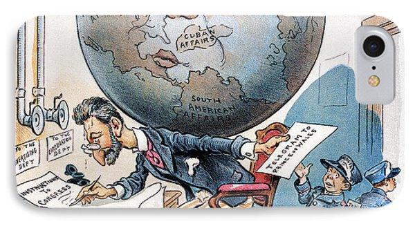 Joseph Pulitzer Cartoon Phone Case by Granger