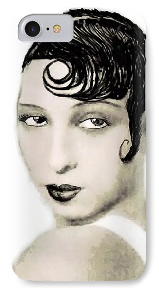 Josephine Baker Draw IPhone Case by Quim Abella