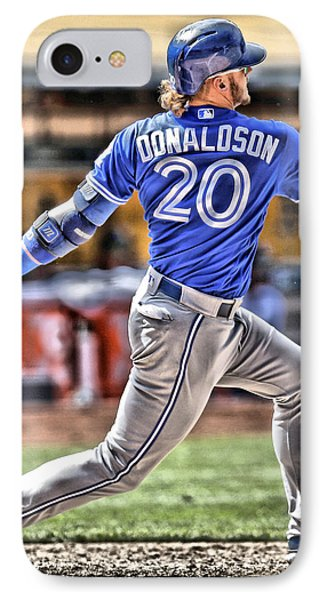 Josh Donaldson Toronto Blue Jays IPhone Case by Joe Hamilton
