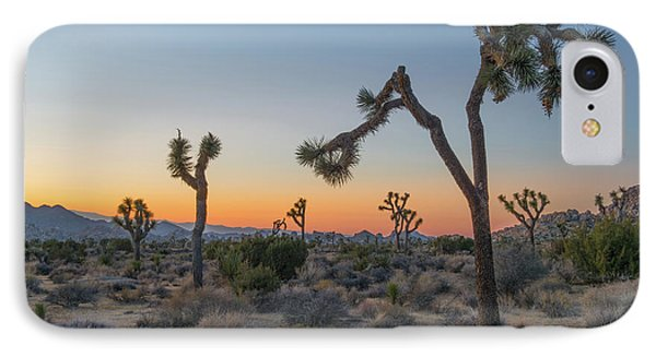 Desert iPhone 7 Case - Joshua Sunset by Joseph Smith