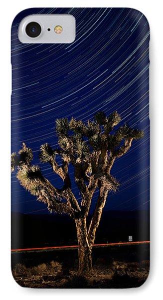 Joshua Tree And Star Trails Phone Case by Steve Gadomski