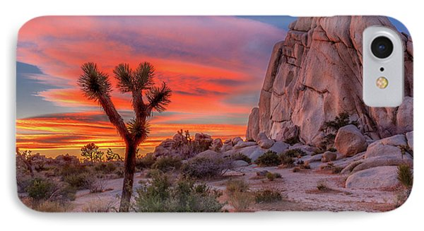 Landscapes iPhone 7 Case - Joshua Tree Sunset by Peter Tellone