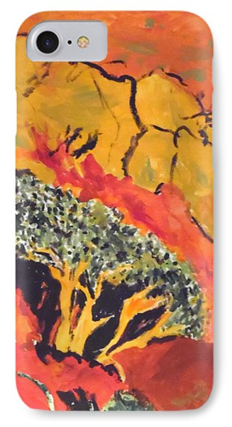 IPhone Case featuring the painting Joshua Trees In The Negev by Esther Newman-Cohen