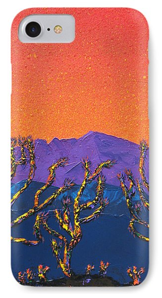 Joshua Trees IPhone Case by Mayhem Mediums