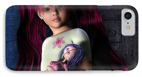 Josi Girl IPhone Case by Jutta Maria Pusl