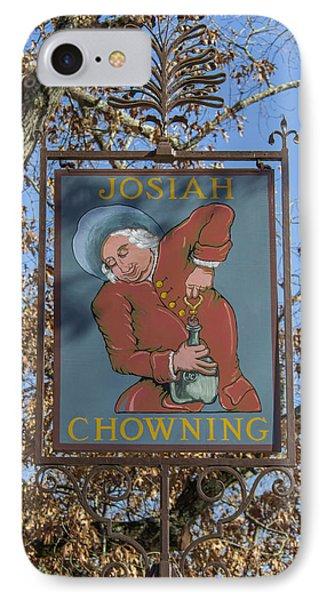Josiah Chowning Sign IPhone Case by Teresa Mucha