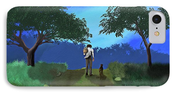 Journey From Desparation To Hope IPhone Case by Ken Morris