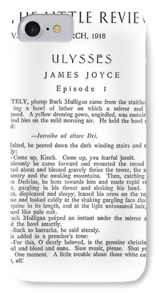 Joyce: Ulysses, 1918 Phone Case by Granger