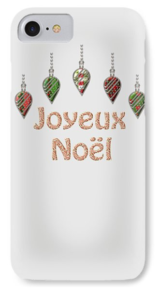 Joyeux Noel  French Merry Christmas IPhone Case by Movie Poster Prints