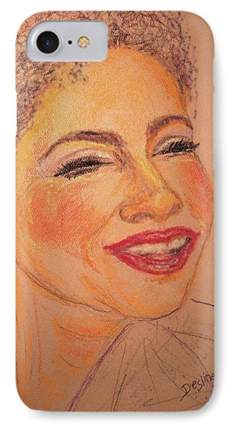 IPhone Case featuring the drawing Joyful by Desline Vitto