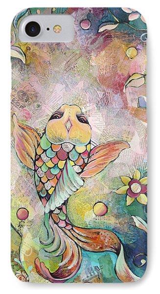 Joyful Koi I IPhone Case by Shadia Derbyshire