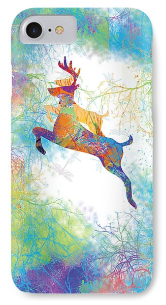 IPhone Case featuring the digital art Joyful Leaps by Trilby Cole
