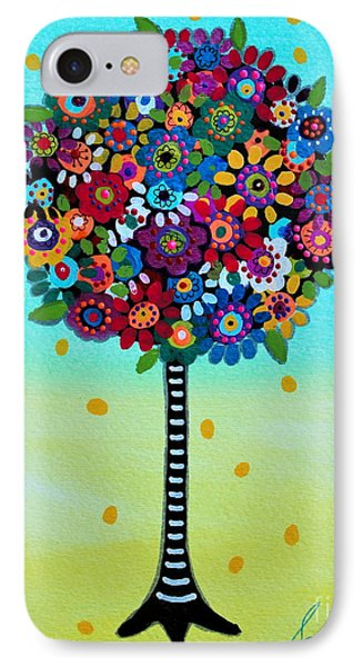IPhone Case featuring the painting Jubilant Tree Of Life by Pristine Cartera Turkus
