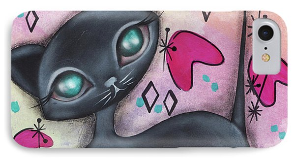 Judy Cat IPhone Case by Abril Andrade Griffith