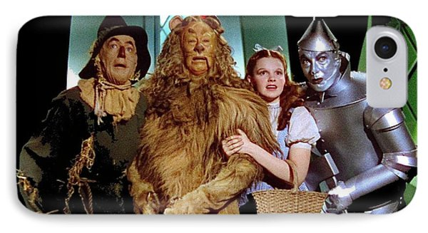 Judy Garland And Pals The Wizard Of Oz 1939-2016 IPhone Case by David Lee Guss