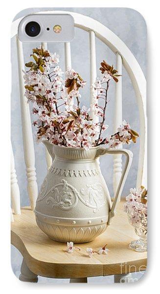 Jug Of Spring Blossom IPhone Case by Amanda Elwell
