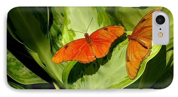 Julia Butterfly Pair IPhone Case by Rosalie Scanlon