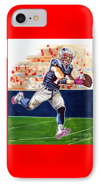 Julian Edelman IPhone Case by Dave Olsen