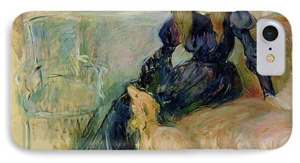 Julie Manet And Her Greyhound Laerte Phone Case by Berthe Morisot