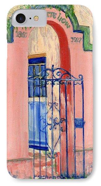 Juliette Low Garden Gate Savannah IPhone Case by Doris Blessington