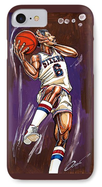 Julius Erving Phone Case by Dave Olsen