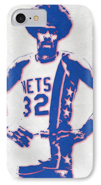 Julius Erving New York Nets Pixel Art IPhone Case