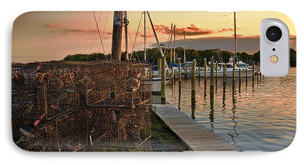 Crab Pots And Sailboats IPhone Case by Glenn Gemmell