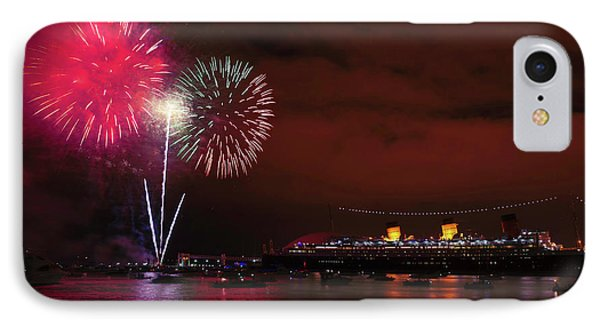 July 4th Fireworks - Long Beach California IPhone Case by Ram Vasudev