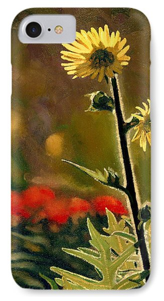 July Afternoon-compass Plant IPhone Case by Bruce Morrison