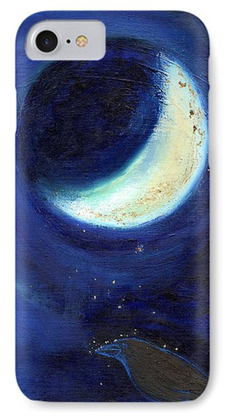 July Moon IPhone Case by Nancy Moniz