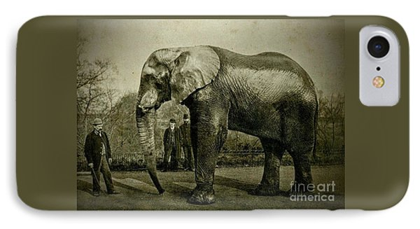 Jumbo The Elepant Circa 1890 IPhone Case by Peter Gumaer Ogden