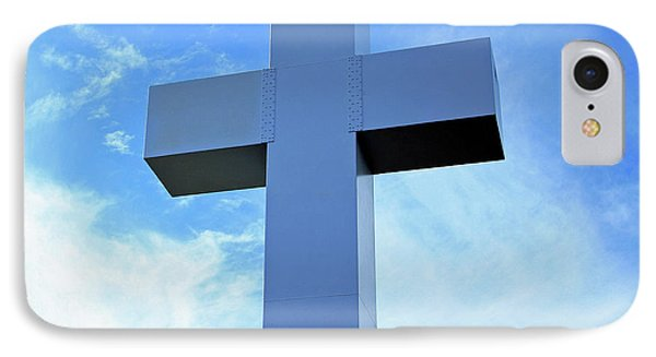 Jumonville's Great Cross Of Christ -- 2 IPhone Case by Cora Wandel