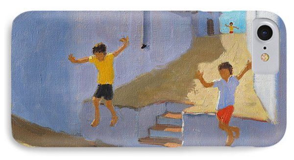 Jumping Off A Wall IPhone Case by Andrew Macara
