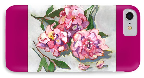 IPhone Case featuring the painting June Peonies by Susan Thomas