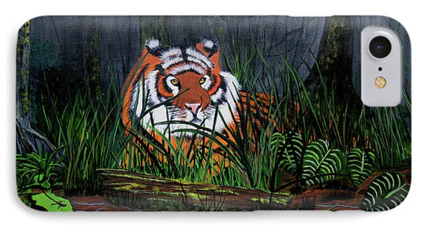 IPhone Case featuring the painting Jungle Cat by Myrna Walsh