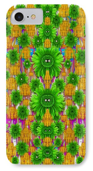 Jungle Love In Fantasy Landscape Of Freedom Peace Pop Art IPhone Case by Pepita Selles