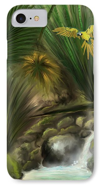 IPhone Case featuring the digital art Jungle Parrot by Darren Cannell