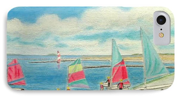 Junior Sailing School, West Kirby Marine Lake Phone Case by Peter Farrow