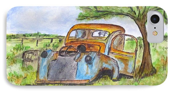 Junk Car And Tree IPhone Case by Clyde J Kell