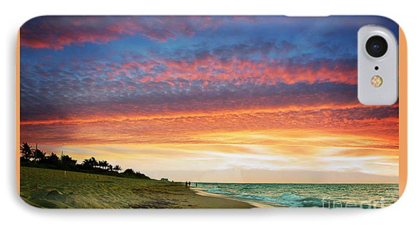 Juno Beach Florida Sunrise Seascape D7 Phone Case by Ricardos Creations