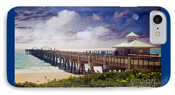Juno Beach Pier Treasure Coast Florida Seascape Dawn C5a Phone Case by Ricardos Creations