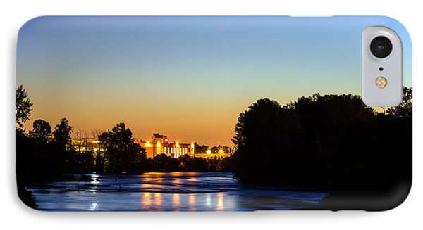 Jupiter And Venus Over The Willamette River In Eugene Oregon IPhone Case