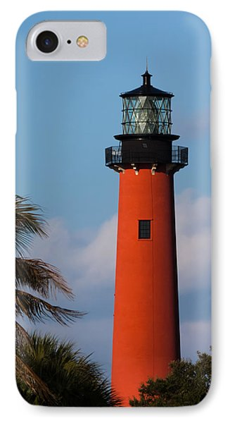 Jupiter Inlet Lighthouse IPhone Case by Ed Gleichman
