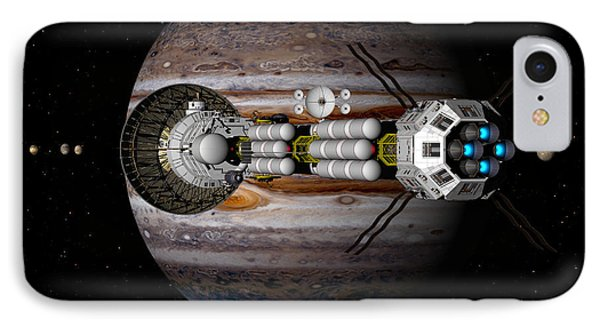 Jupiter Looming IPhone Case by David Robinson